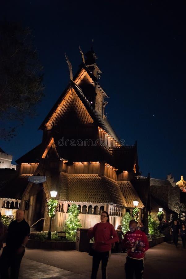 Het Paviljoen van Noorwegen in Epcot  stock fotografie