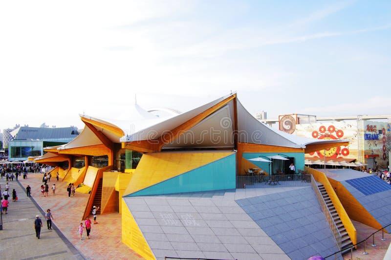 Het Paviljoen van Noorwegen in Expo2010 Shanghai China stock fotografie