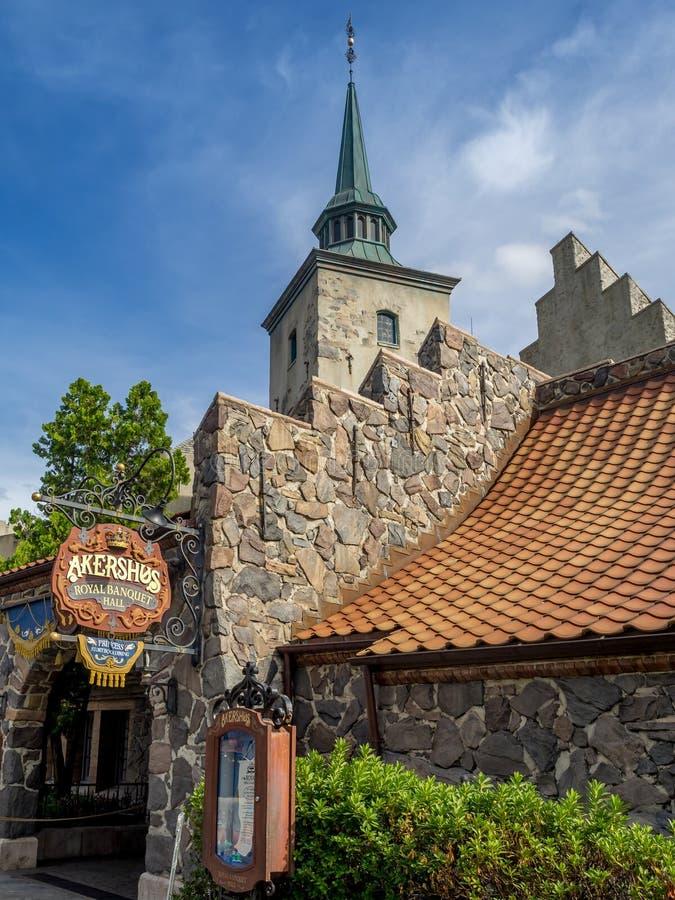 Het Paviljoen van Noorwegen, Wereldshowcase, Epcot royalty-vrije stock foto