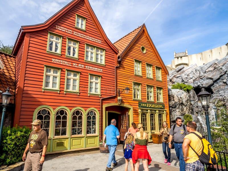 Het Paviljoen van Noorwegen, Wereldshowcase, Epcot stock fotografie
