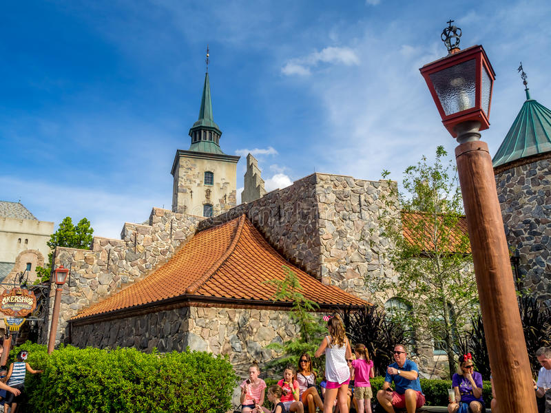 Het Paviljoen van Noorwegen, Wereldshowcase, Epcot stock foto's