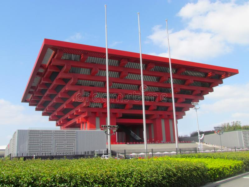 Het Paviljoen van Shanghai China van Expo 2010 stock foto's