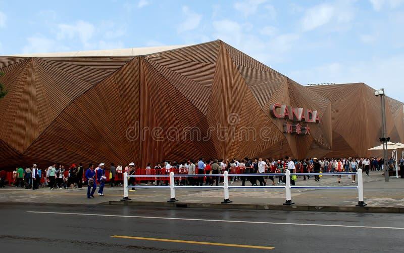 Het paviljoen van Shanghai EXPO Canada royalty-vrije stock fotografie