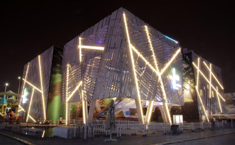 Het Paviljoen van Zweden, Expo 2010 Shanghai China stock foto