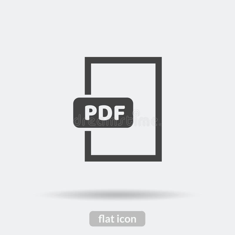 Het Pdfpictogram, Vector is type EPS10 stock illustratie