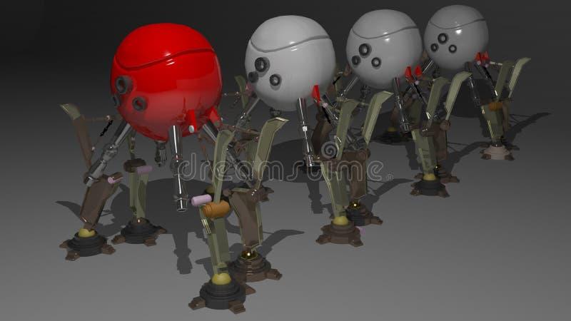 Het peloton van de robot stock illustratie