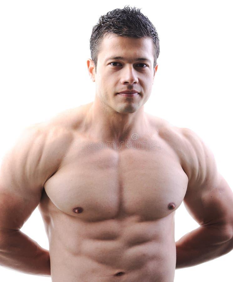 Het perfecte mannelijke lichaam royalty-vrije stock foto's