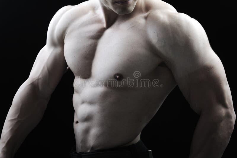Het perfecte mannelijke lichaam royalty-vrije stock afbeelding