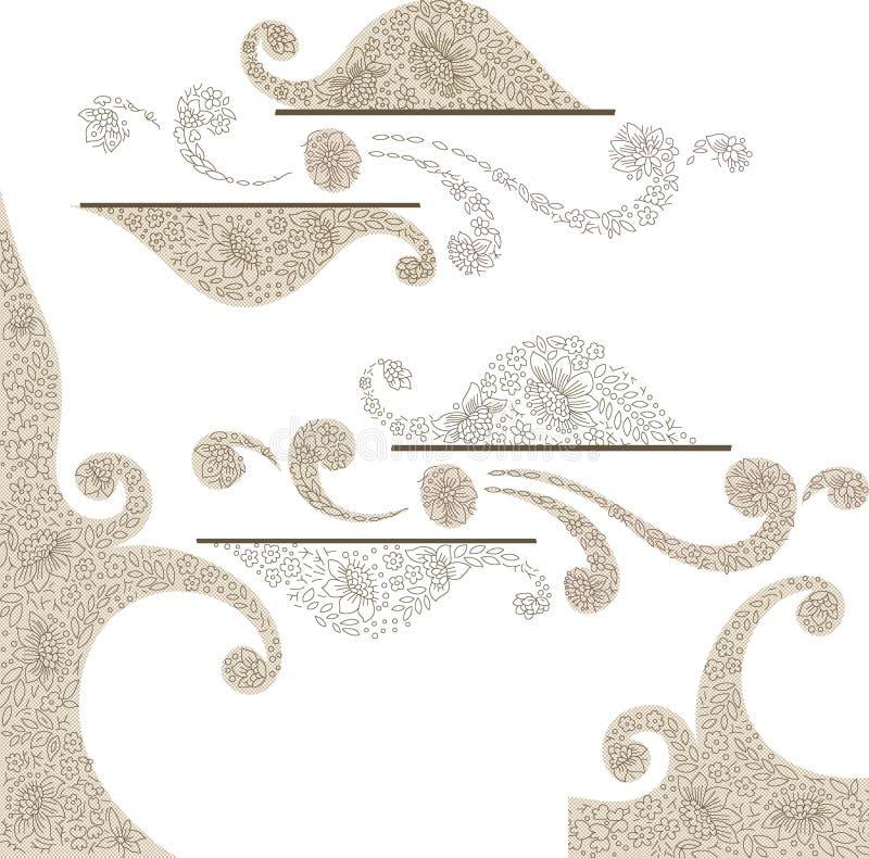 Het perfecte naadloze ontwerp van Paisley Decoratief ontwerp royalty-vrije illustratie