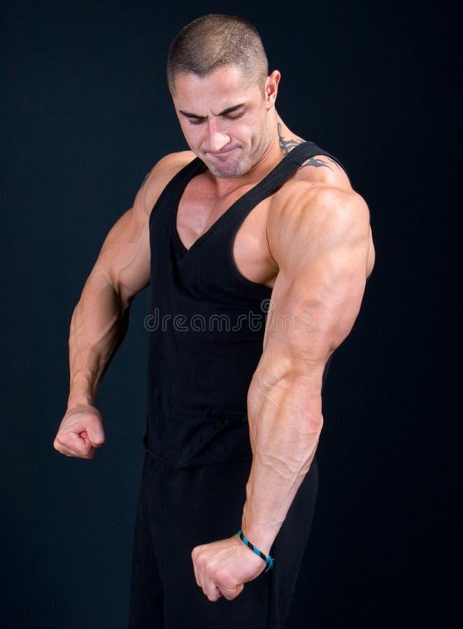Het perfecte Spier mannelijke model royalty-vrije stock afbeelding