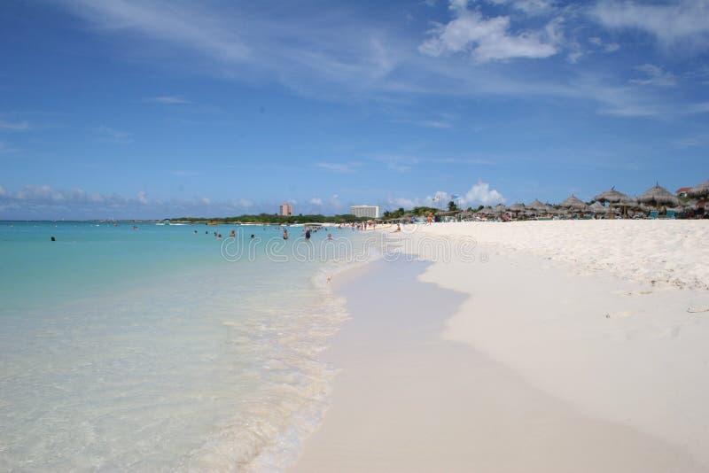 Het perfecte strand stock afbeeldingen