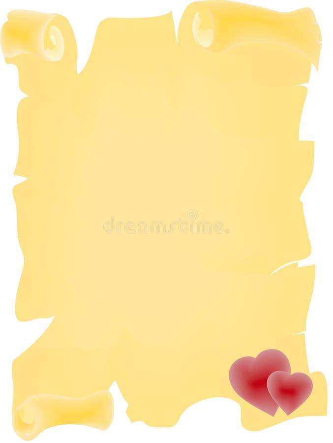 Het Perkament van de liefde vector illustratie
