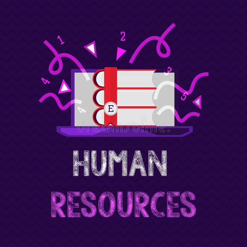Het Personeel van de handschrifttekst Concept die de mensen betekenen die omhoog het aantal arbeidskrachten van een organisatie m royalty-vrije illustratie