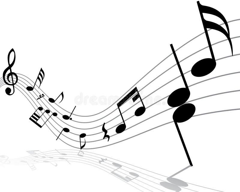 Het personeel van de muzieknoot stock illustratie