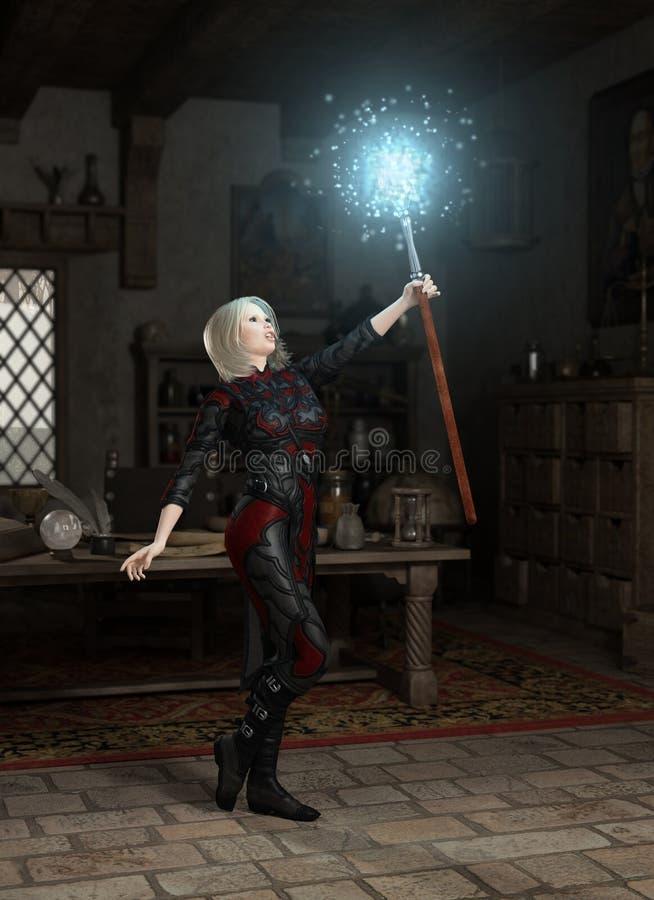 Het Personeel van Mage royalty-vrije illustratie