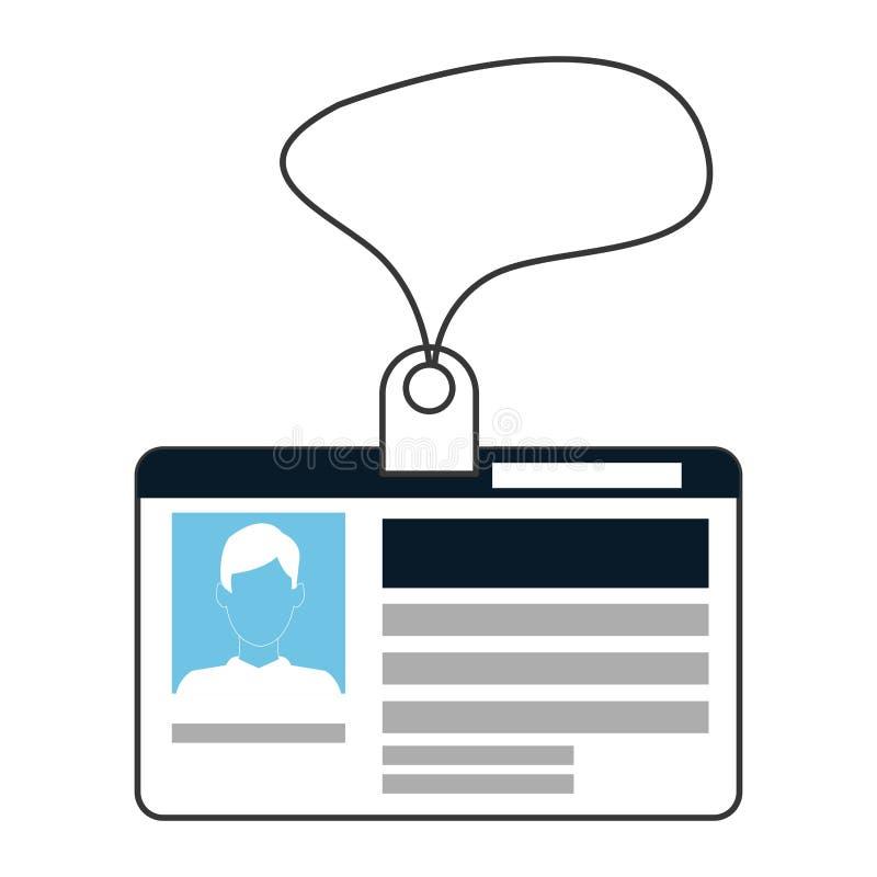 het persoonlijke pictogram van de identificatiekaart stock illustratie