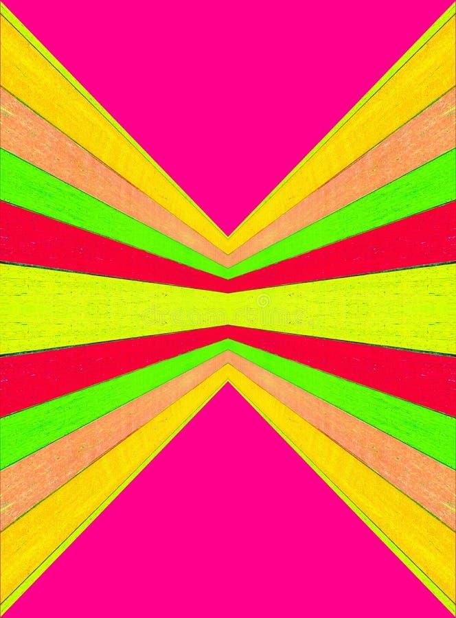 Het perspectief van de afmeting over lange afstand en centraal punt van zicht multicolored beeld Abstract achtergrond vector illustratie