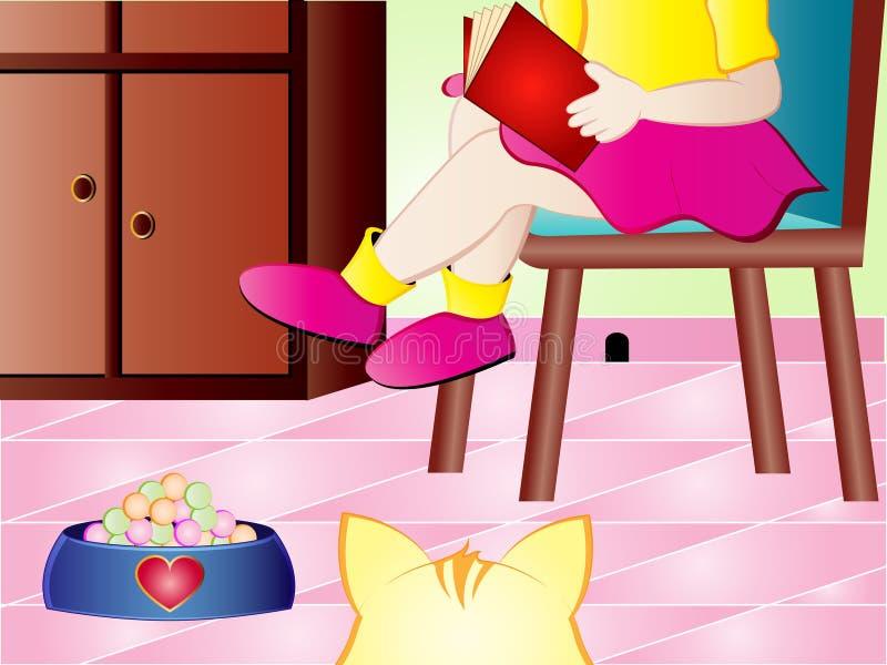 Het perspectief van de kat royalty-vrije illustratie