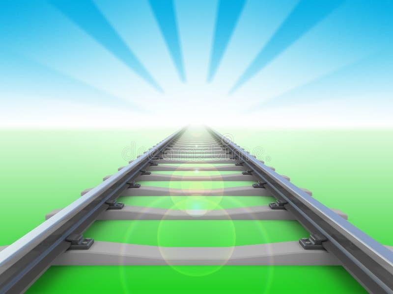 Het perspectief van de spoorweg stock illustratie