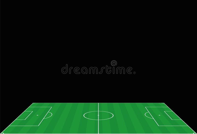 Het Perspectiefmening van het voetbalgebied van de Kant royalty-vrije illustratie