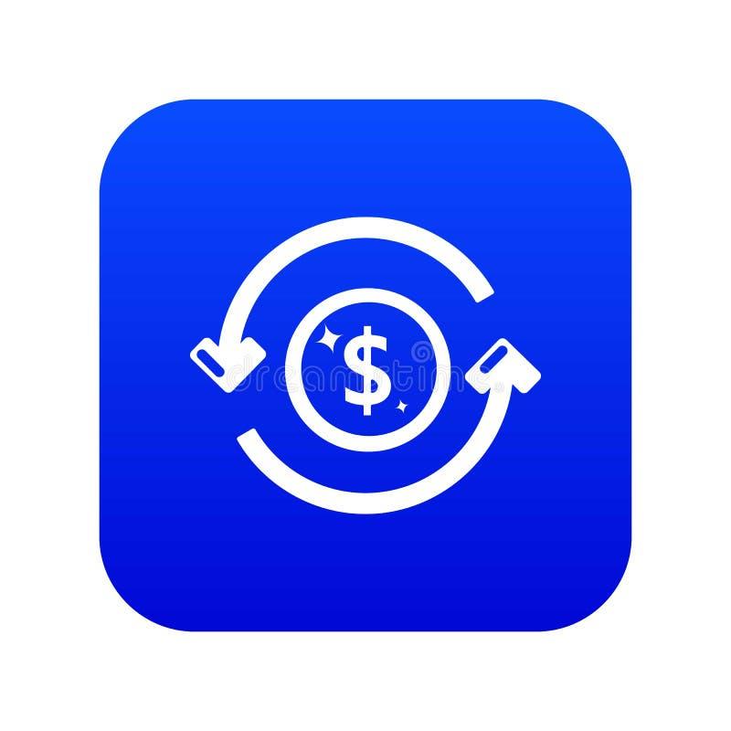 Het pictogram blauwe vector van het omloopgeld royalty-vrije illustratie
