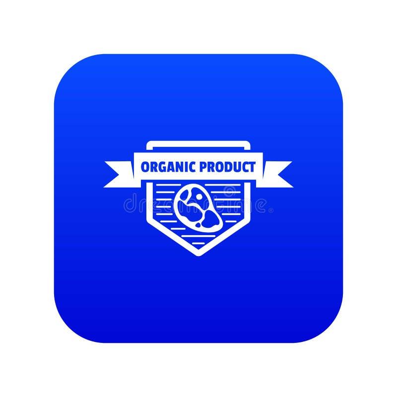 Het pictogram blauwe vector van het vleesbiologische product stock illustratie