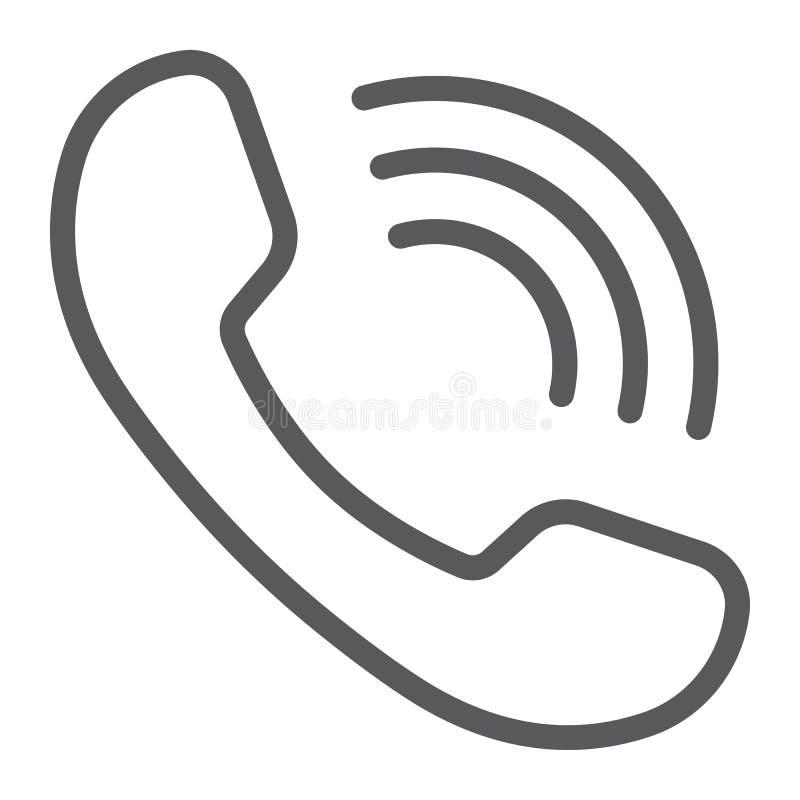 Het pictogram, de mededeling en de steun van de Telefoongespreklijn royalty-vrije illustratie
