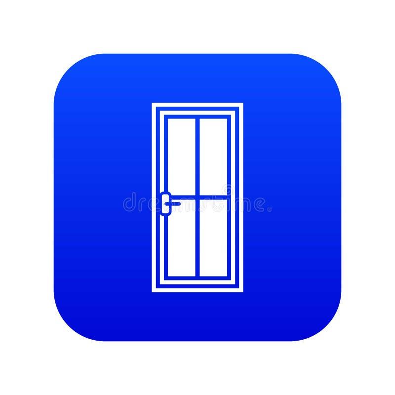 Het pictogram digitaal blauw van de glasdeur vector illustratie