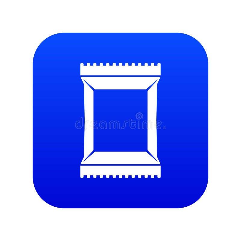 Het pictogram digitaal blauw van het servettenpak royalty-vrije illustratie