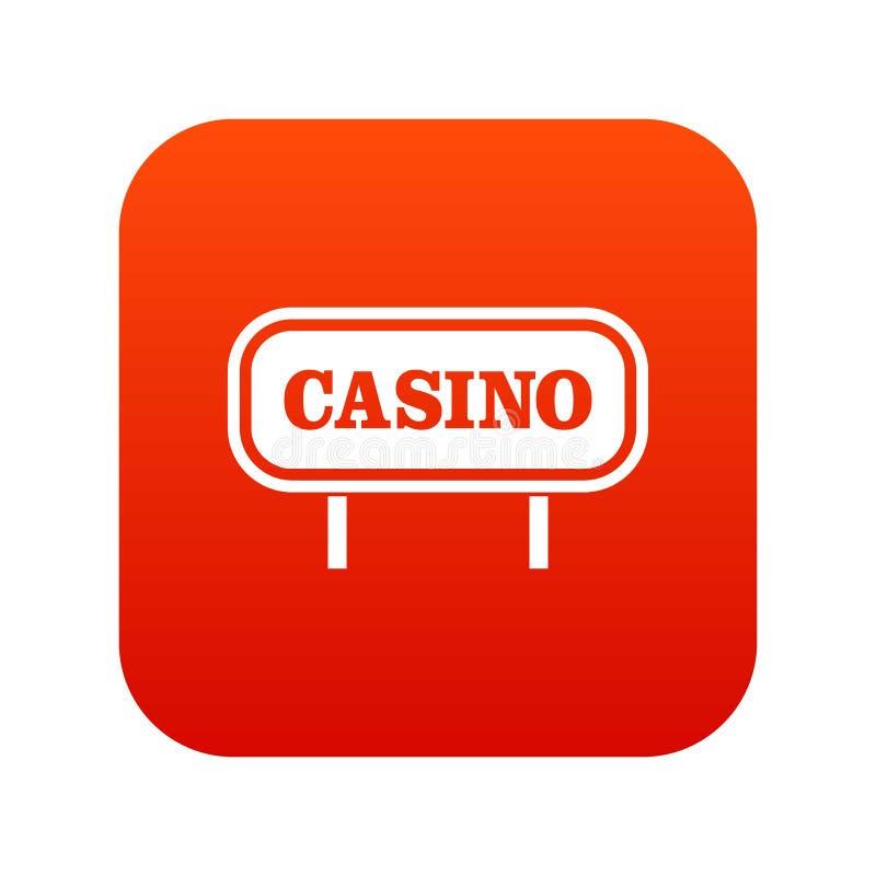 Download Het Pictogram Digitaal Rood Van Het Casinoteken Vector Illustratie - Illustratie bestaande uit geluk, kans: 107707558