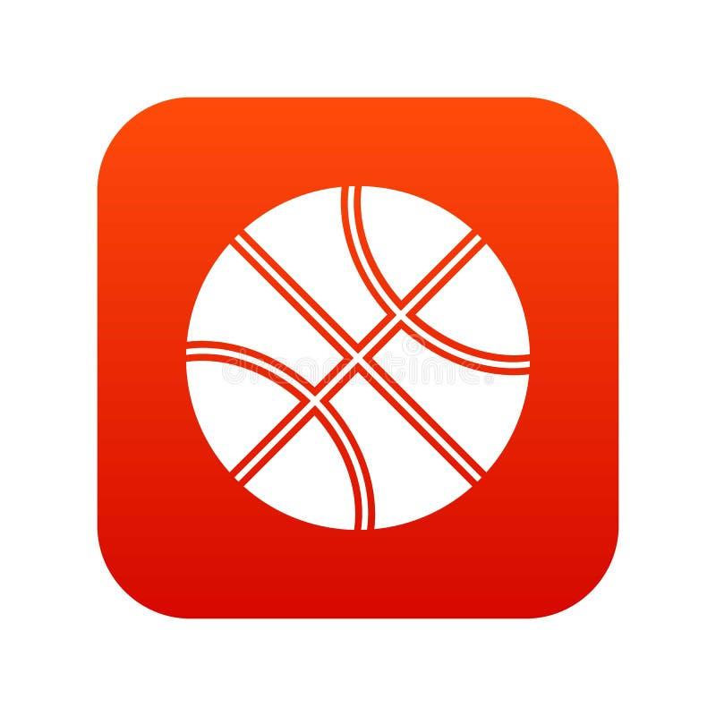 Download Het Pictogram Digitaal Rood Van De Basketbalbal Vector Illustratie - Illustratie bestaande uit pictogram, leer: 107707954