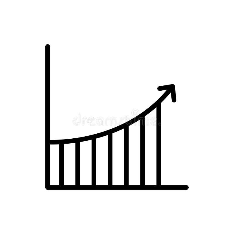 Het pictogram of het embleem van de premiegrafiek in lijnstijl stock illustratie