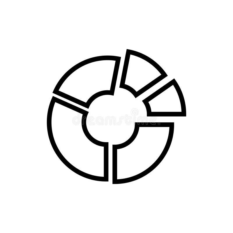 Het pictogram of het embleem van de premiegrafiek in lijnstijl vector illustratie