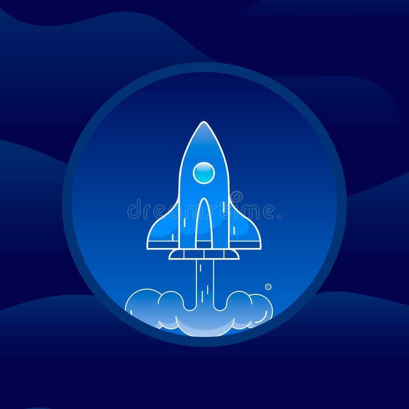 Het pictogram/het embleem van de rakettemperatuur Kunstillustratie stock illustratie