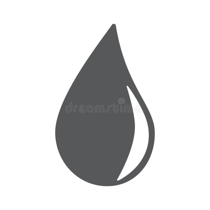 Het pictogram eps10 van de waterdaling royalty-vrije illustratie