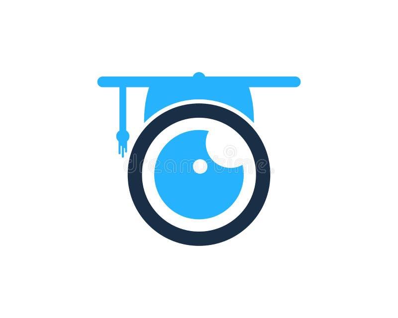 Het Pictogram Logo Design Element van het onderwijsoog stock illustratie