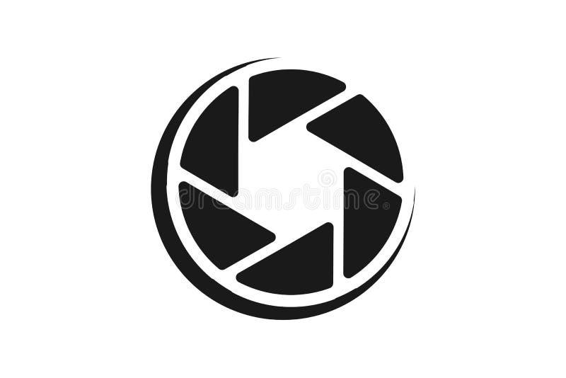 Het pictogram Logo Designs Inspiration Isolated van de lenscamera op Witte Achtergrond royalty-vrije illustratie