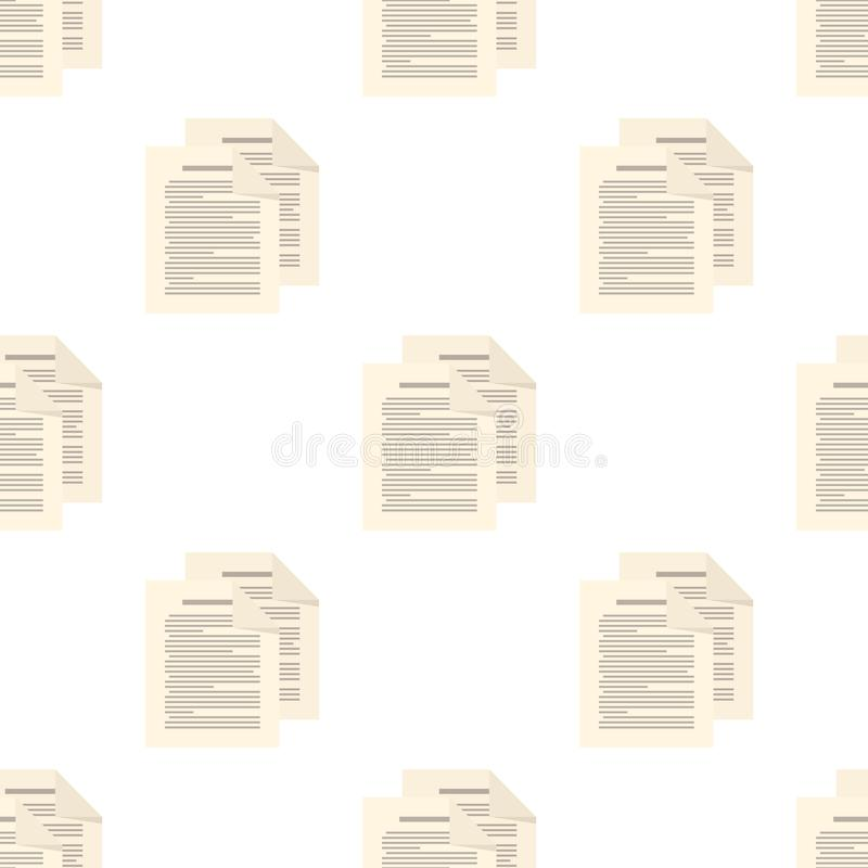 Het Pictogram Naadloos Patroon van paginabladen royalty-vrije illustratie