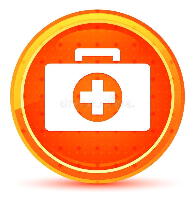 Het pictogram natuurlijke oranje ronde knoop van de eerste hulpuitrusting stock illustratie