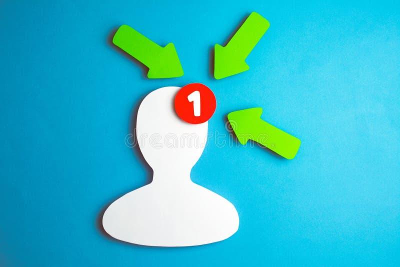 Het pictogram tegenbericht van de sociaal netwerkenaanhanger stock foto