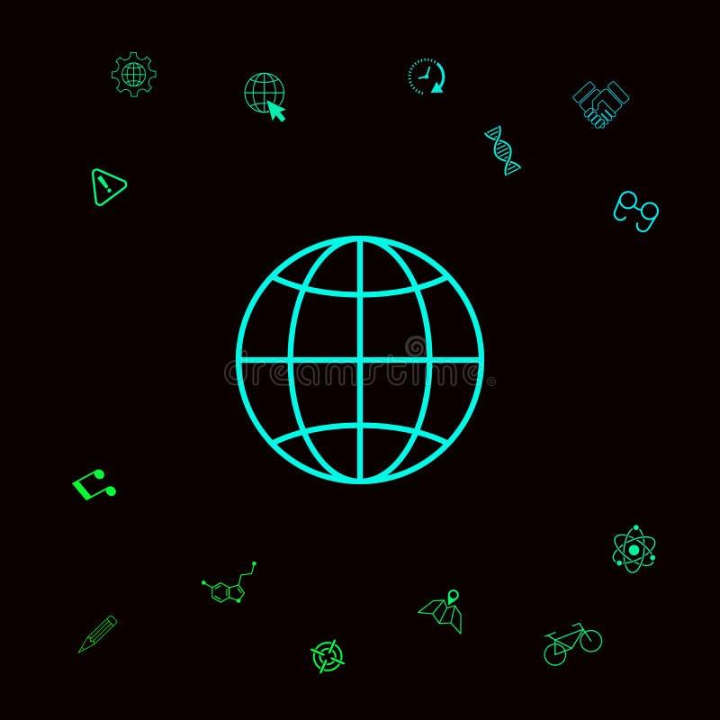 Het pictogram van het aardesymbool stock illustratie