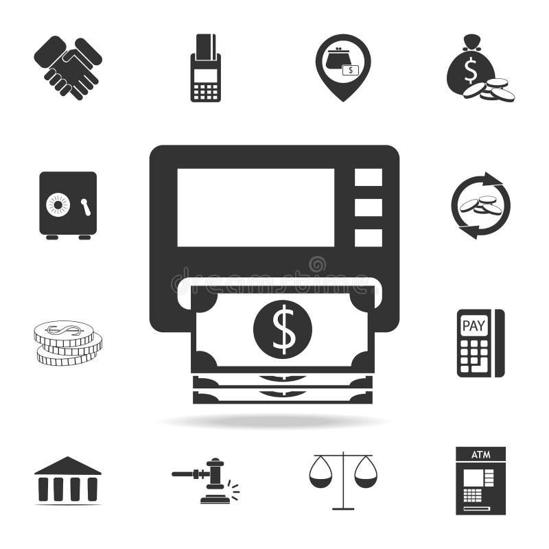 Het pictogram van ATM cashpoint Gedetailleerde reeks financiën, bankwezen en winstelementenpictogrammen Het grafische ontwerp van vector illustratie