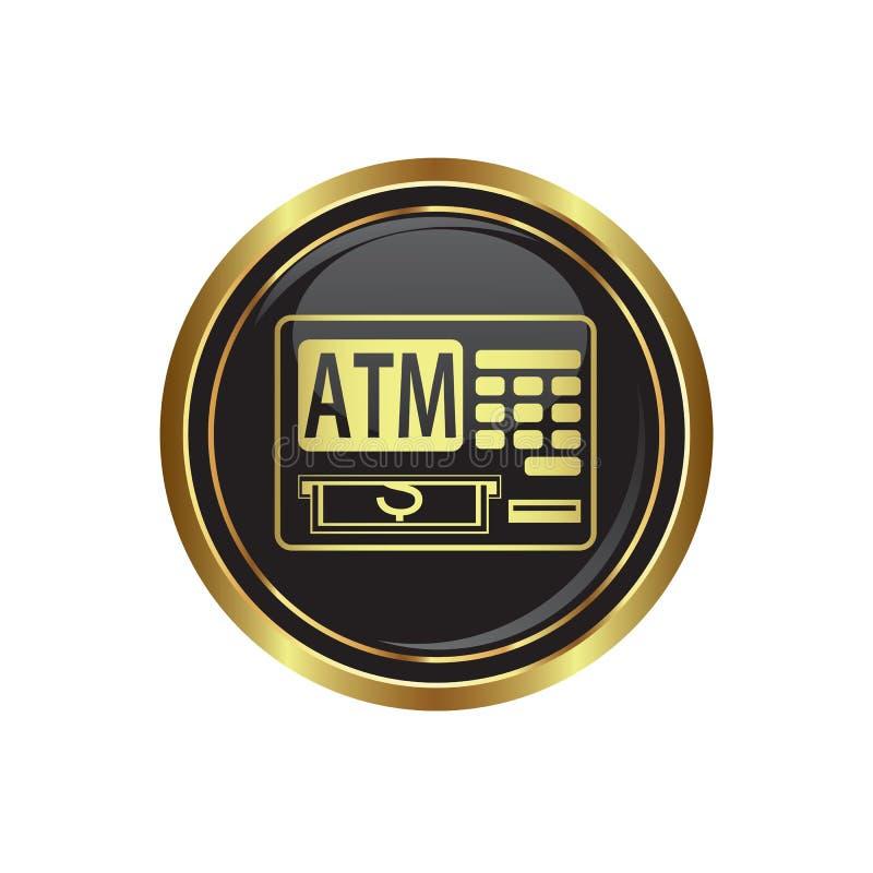 Het pictogram van ATM cashpoint op de knoop stock illustratie
