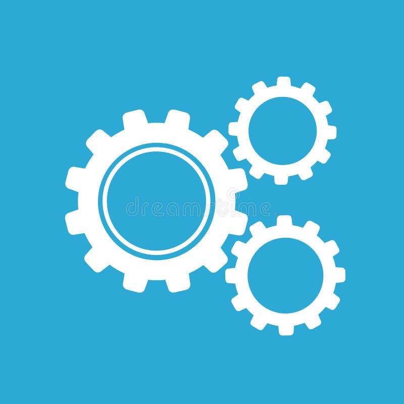 Het Pictogram van het automatiseringsproces, bedrijfsconcept, Vlak Ontwerp, VECTORillustratie vector illustratie