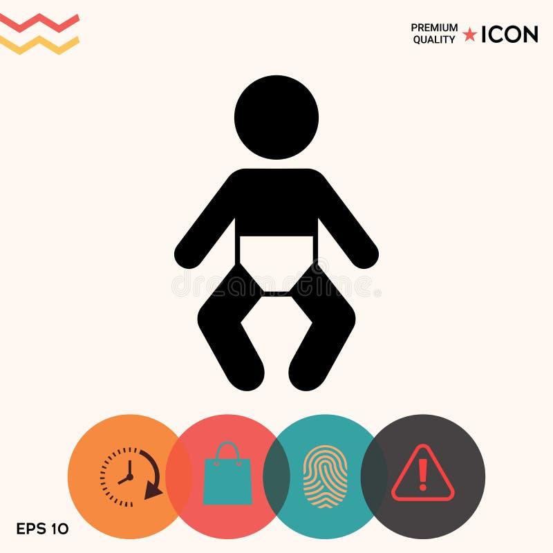 Het pictogram van het babysymbool vector illustratie