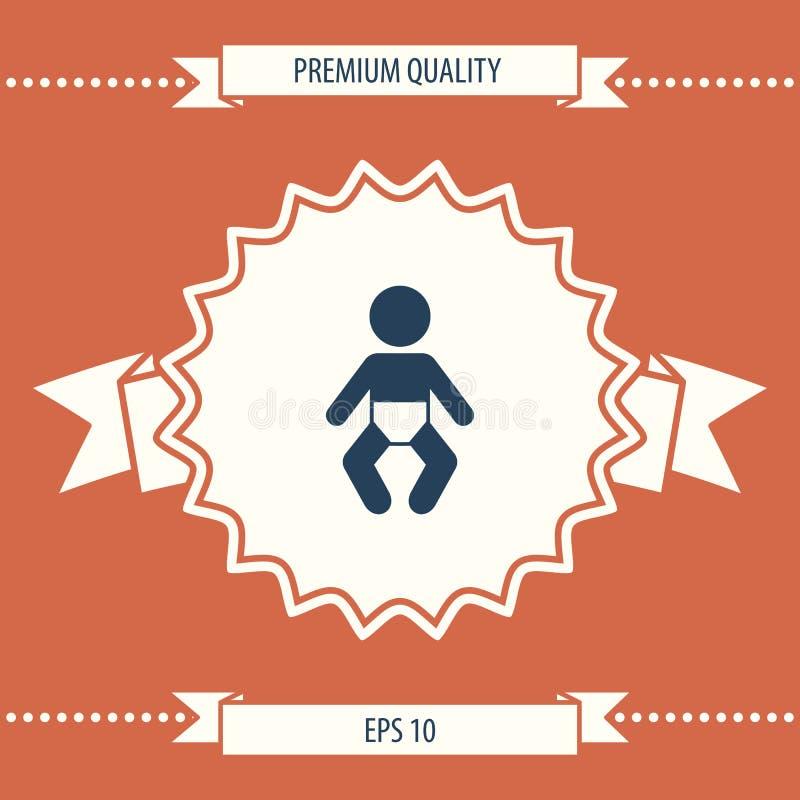 Het pictogram van het babysymbool stock illustratie