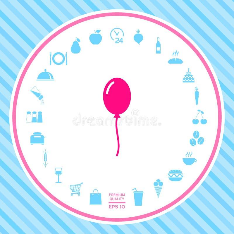 Het pictogram van het ballonsymbool vector illustratie