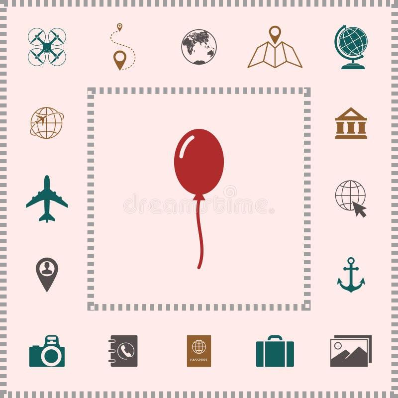 Het pictogram van het ballonsymbool royalty-vrije illustratie