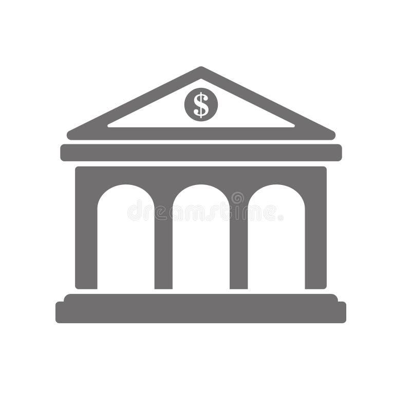 Het pictogram van het banksymbool Grafische elementen voor uw ontwerp Dit is dossier van EPS10-formaat stock afbeeldingen