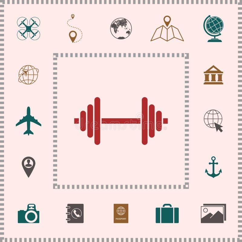 Het pictogram van het Barbellsymbool stock illustratie